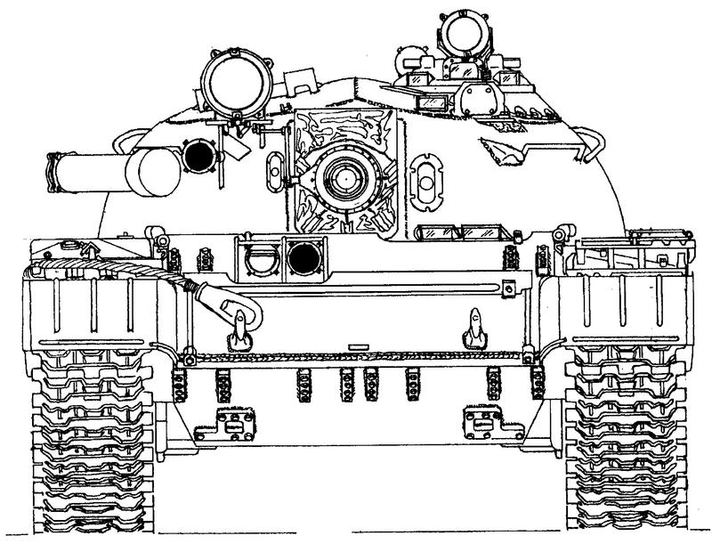 Схема танка Т-55,