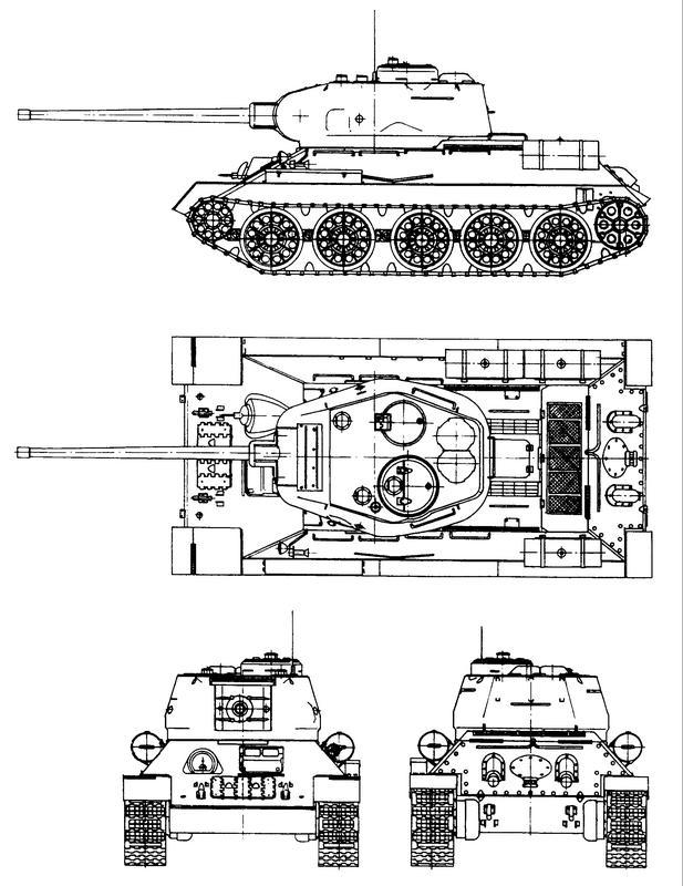 Схема танка Т-34-85