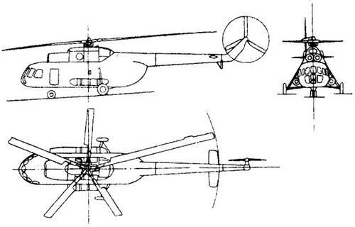 Схема вертолета Ми-8 Hip