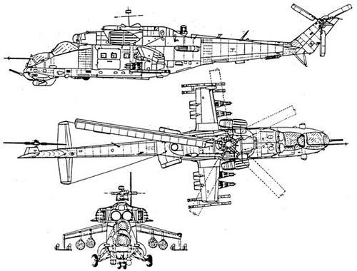 Схема вертолета ми 24