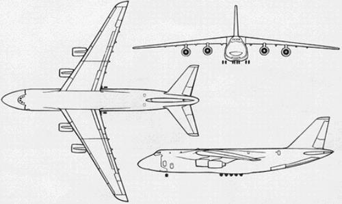 Схема самолета Ан-124