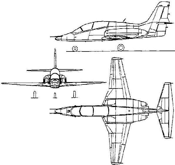 Схема самолета МиГ-АТ