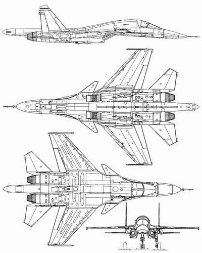 Су-34 Схема