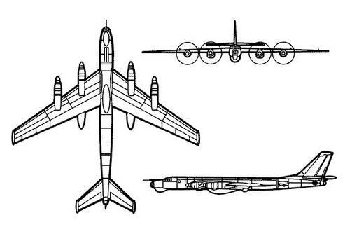 Ту-95 Bear Схема