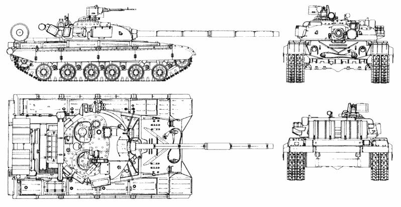 Схема танка Т-64