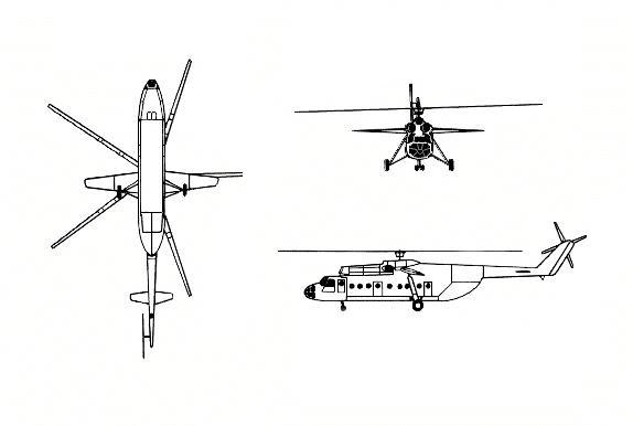 Схема вертолета Ми-6 Hook
