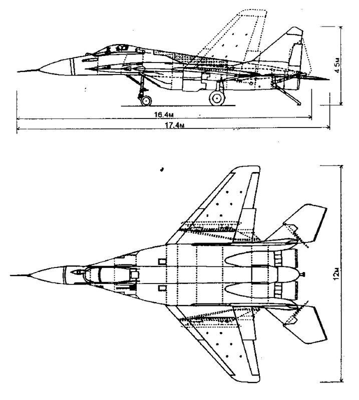 Схема МиГ-29К Fulcrum