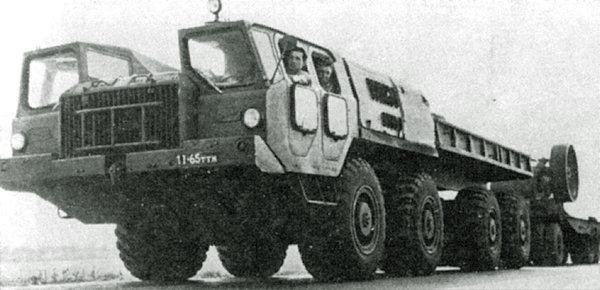 тягач на шасси МАЗ-543 с