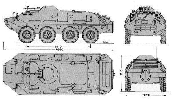 Схема бронетранспортера