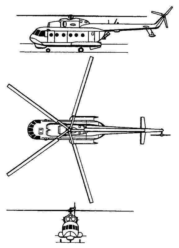 Схема вертолета Ми-14 Haze