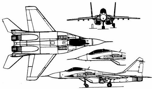 Схема МиГ-29